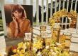 Gold mirror acrylic plinths