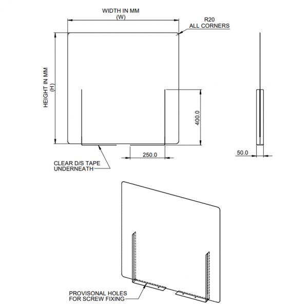 Interpersonal-desk-divider-screen